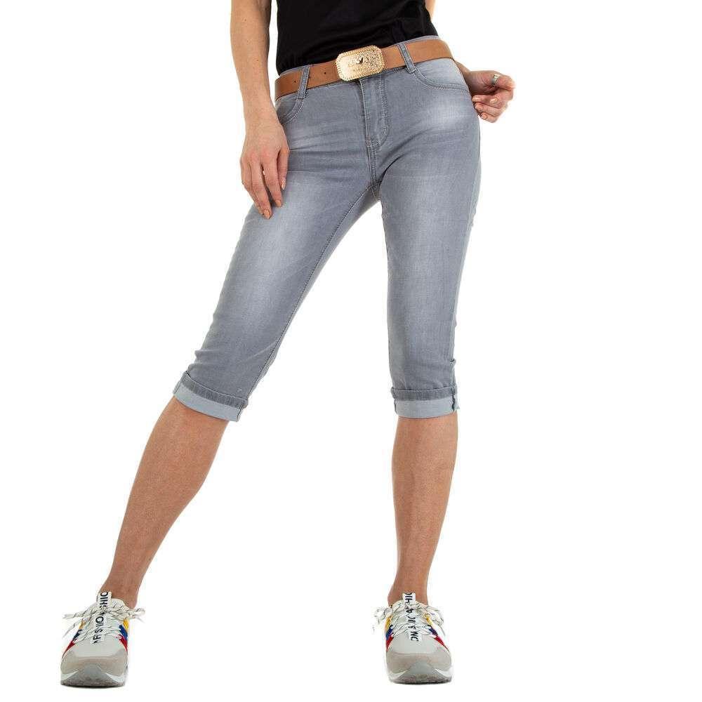 Blugi Capri pentru femei marca Miss-Curry - gri