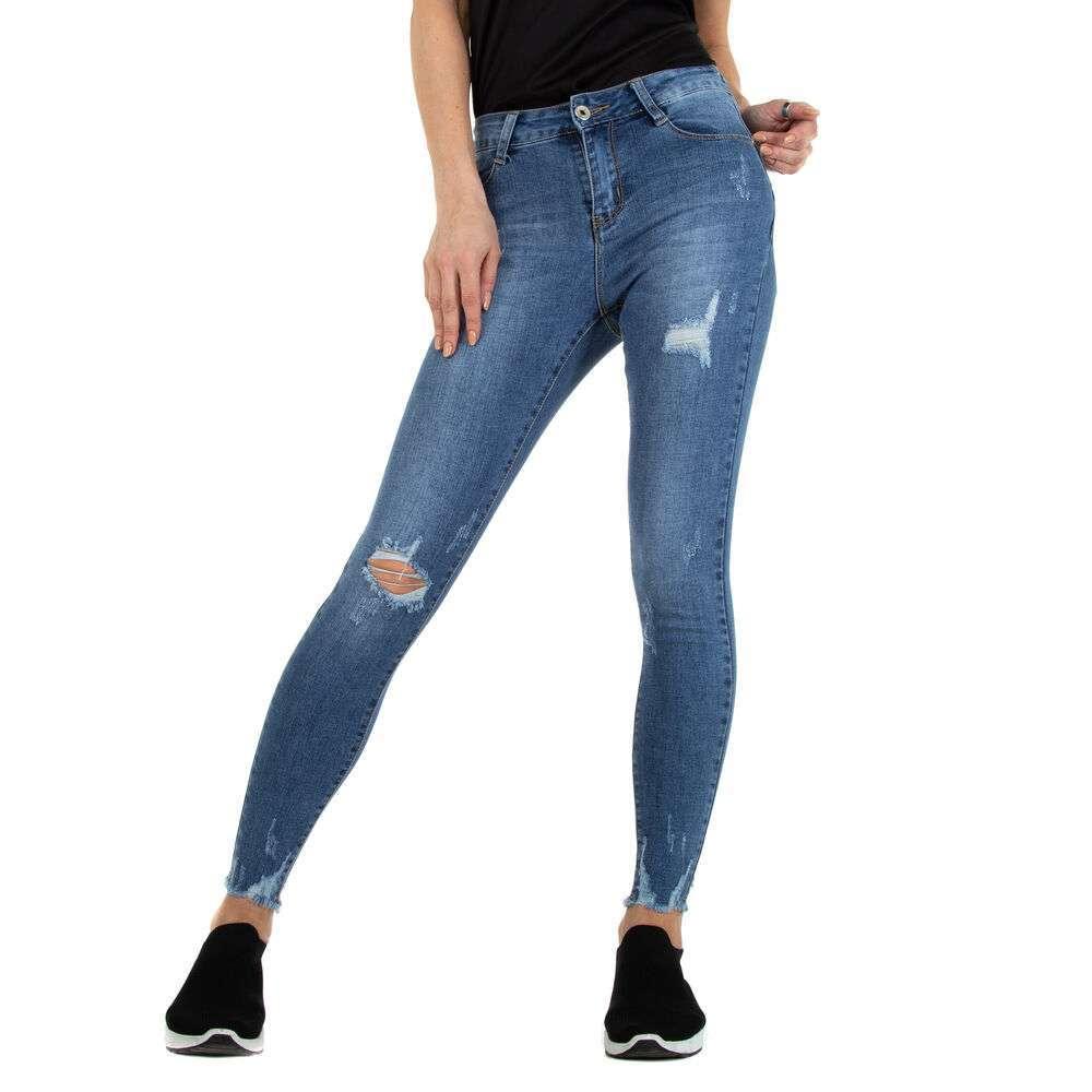 Blugi Skinny pentru femei marca Miss-Curry - albastră