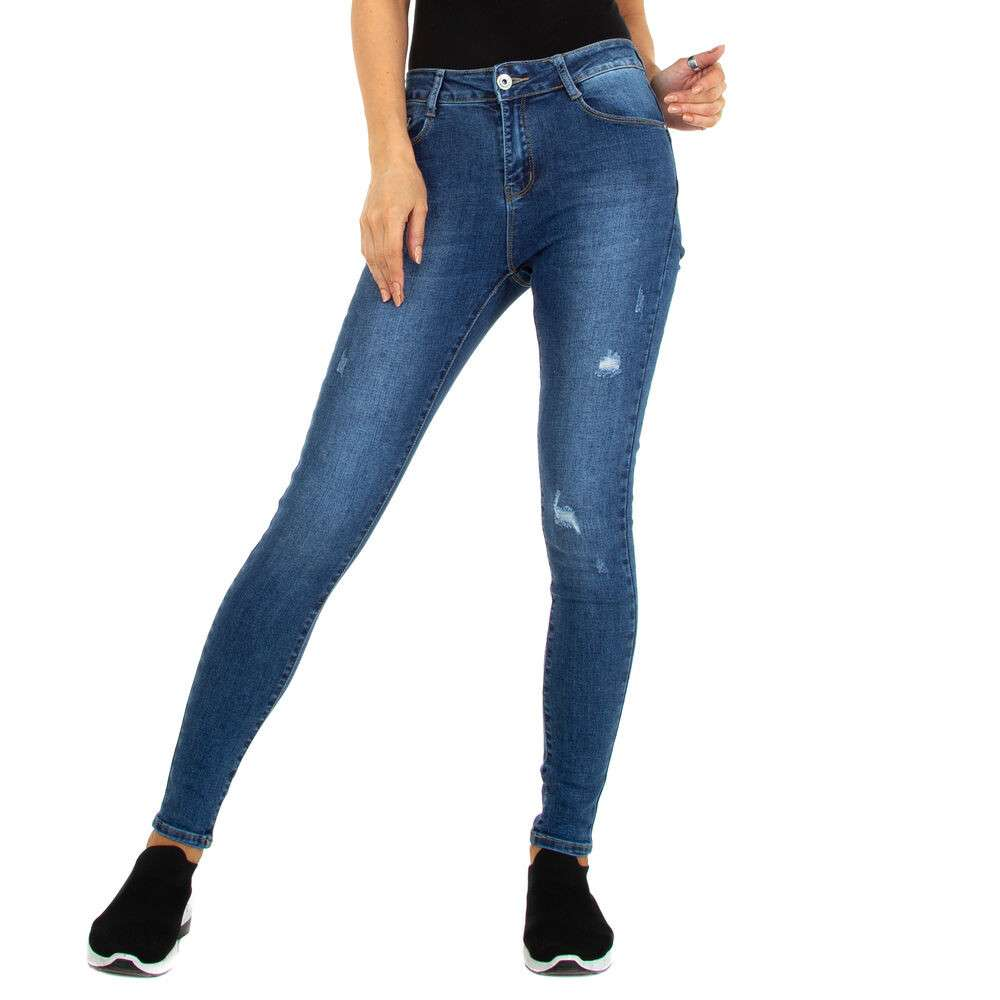 Blugi Skinny pentru femei marca Miss Curry - albastră