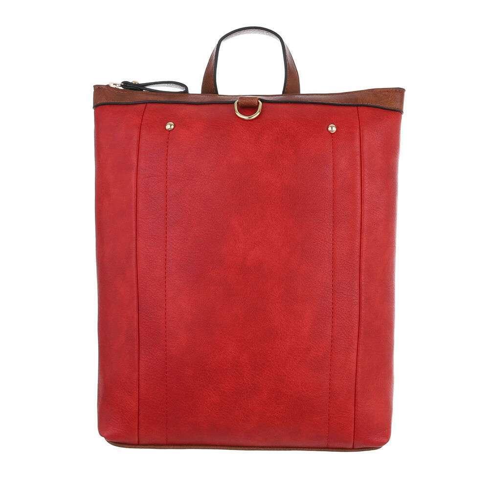 Женский рюкзак - красный