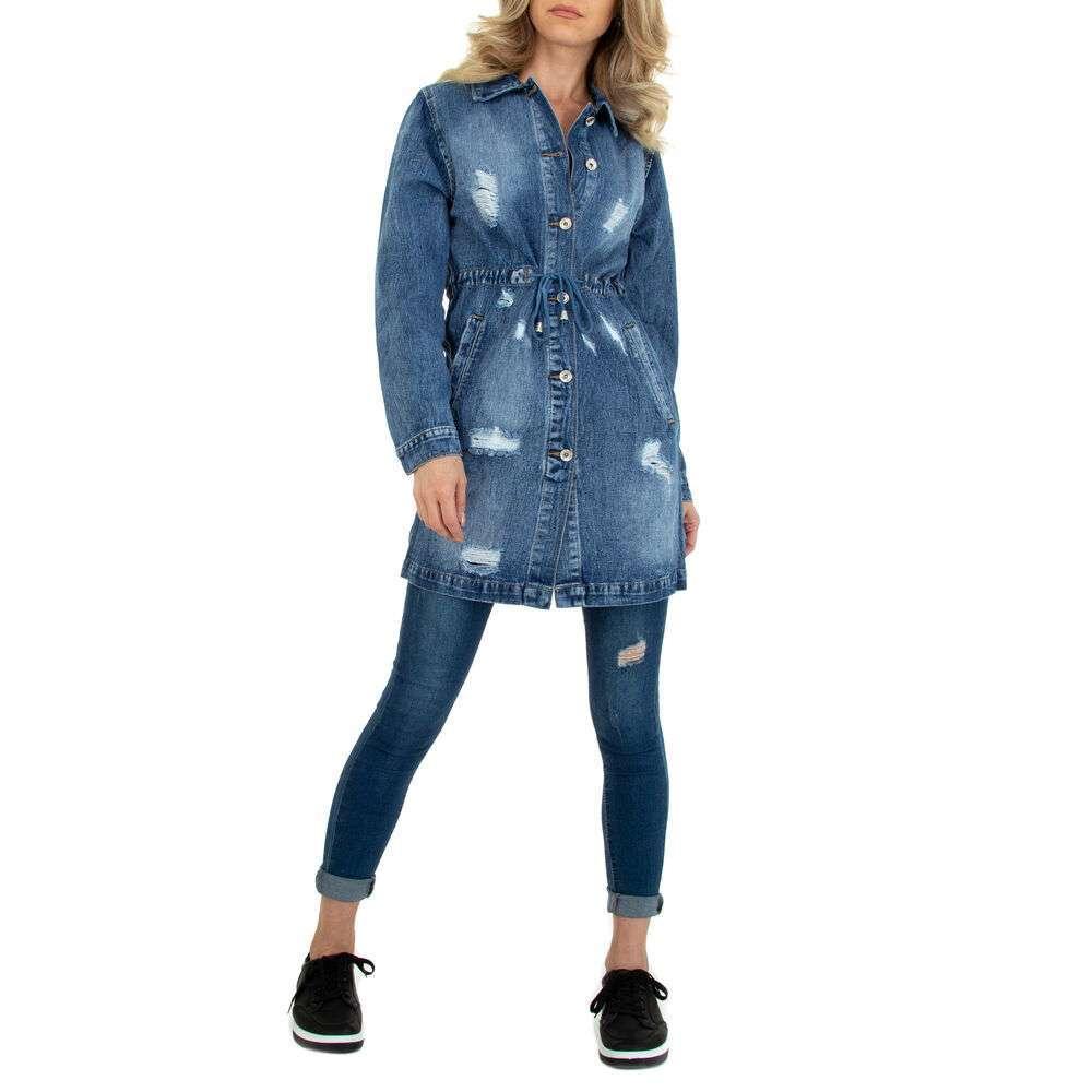 Bluză cămașă pentru femei marca M.Sara - albastră