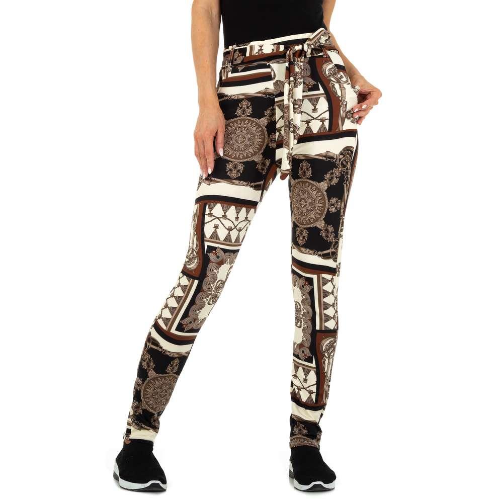 Pantaloni chino pentru femei marca Holala Fashion - cafeniu