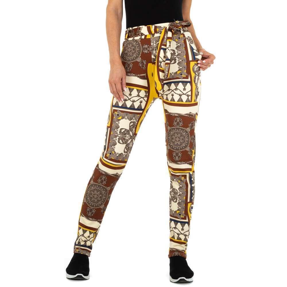 Pantaloni chino pentru femei marca Holala Fashion - coffee