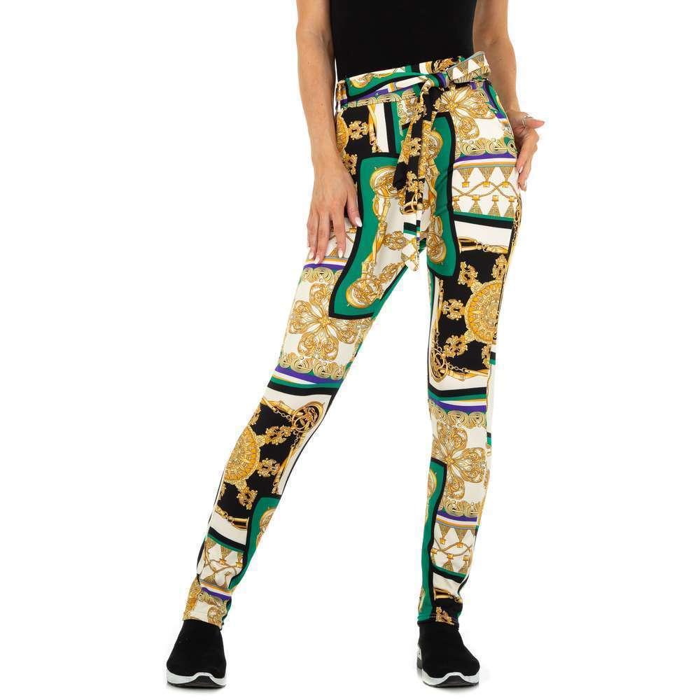Pantaloni chino pentru femei marca Holala Fashion - verde