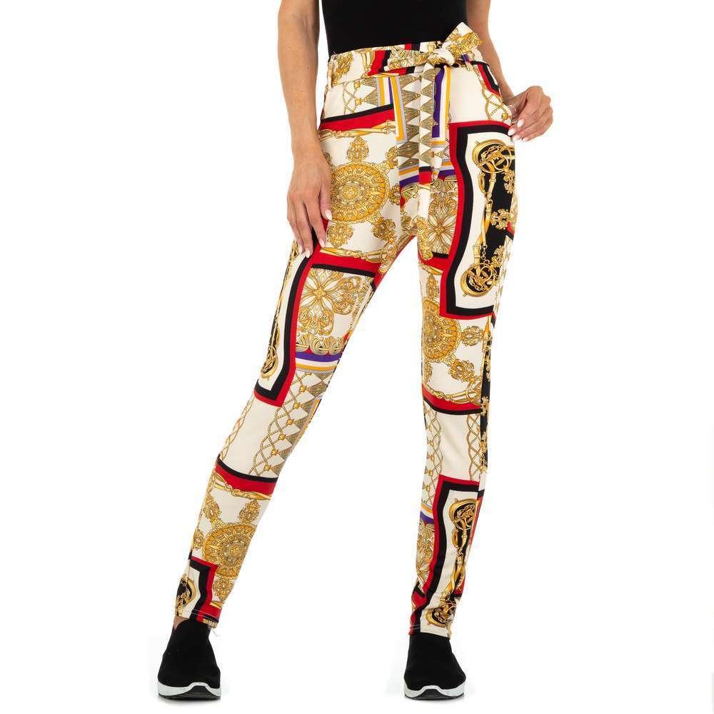 Pantaloni chino pentru femei marca Holala Fashion - rosu