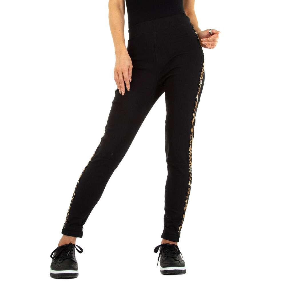 Lasini jeans pentru dame marca Fashion Design - negru