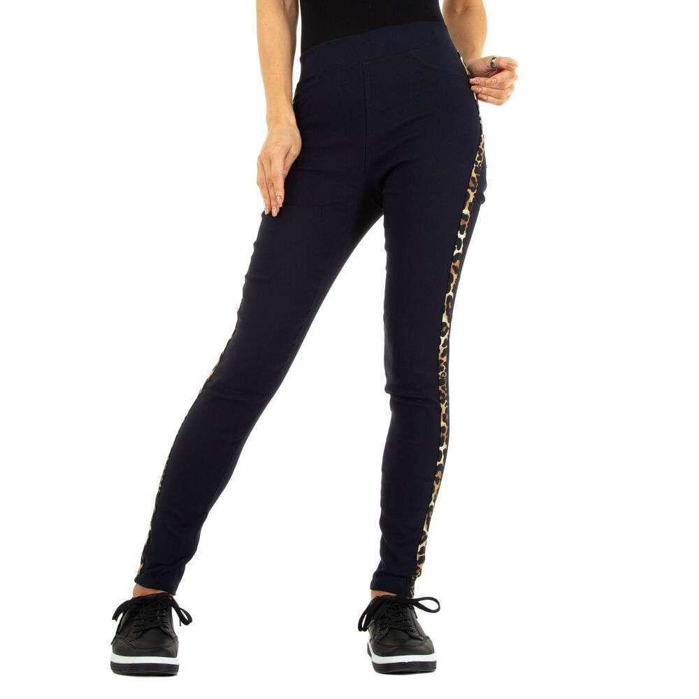 Lasini jeans pentru dame marca Fashion Design - închis albastru