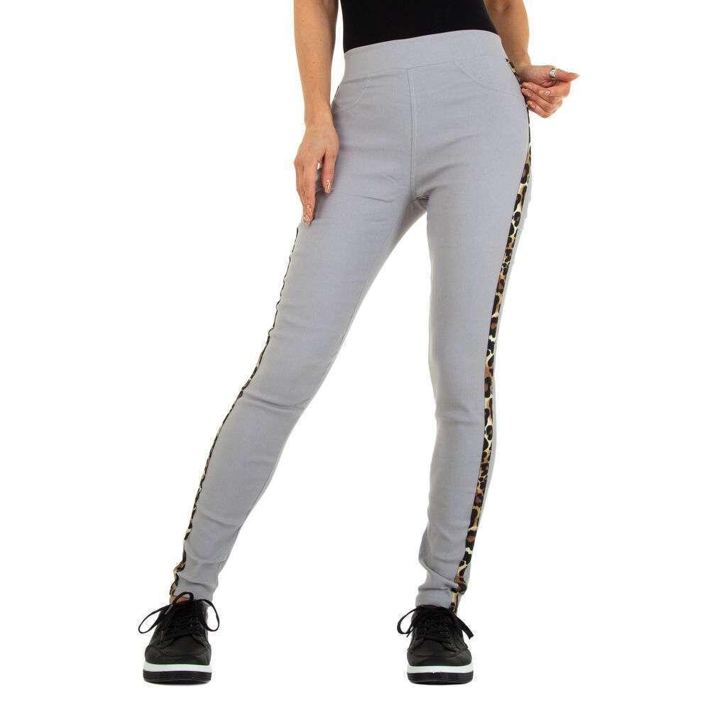 Lasini jeans pentru dame marca Fashion Design - gri