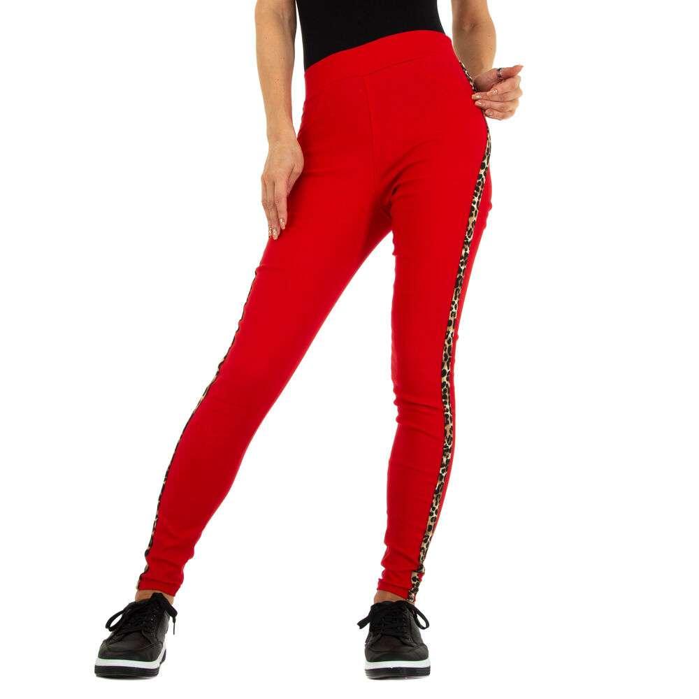 Lasini jeans pentru dame marca Fashion Design - rosu