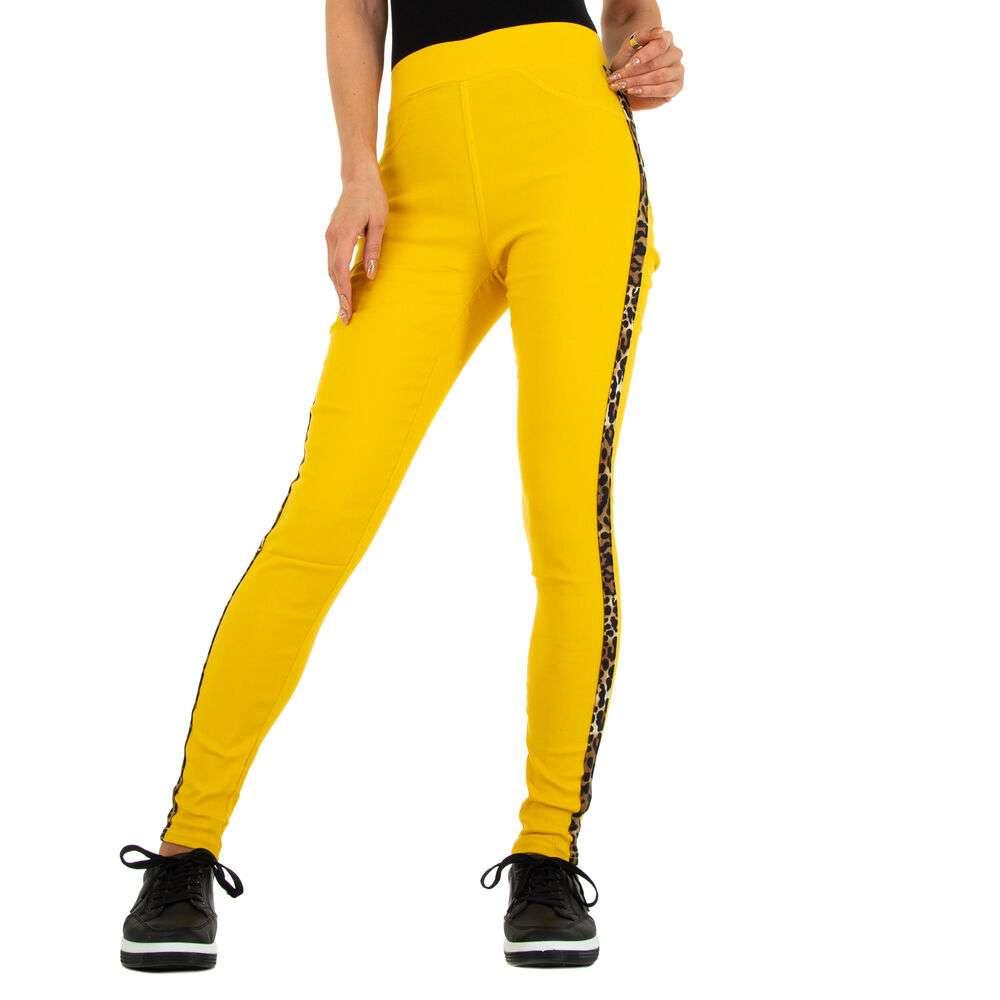 Lasini jeans pentru dame marca Fashion Design - galben