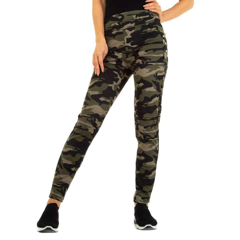 Pantaloni skinny pentru femei marca Holala - verde armată