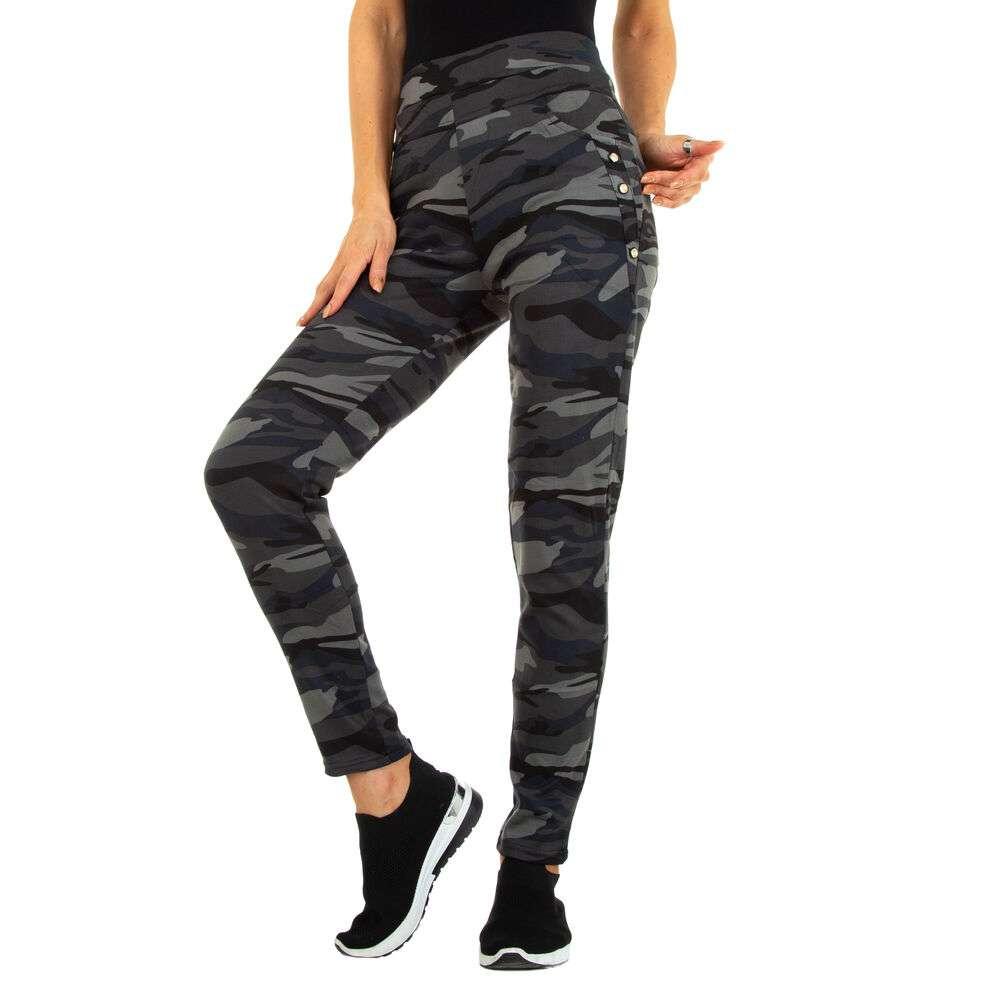 Pantaloni skinny pentru femei marca Holala - gri armată