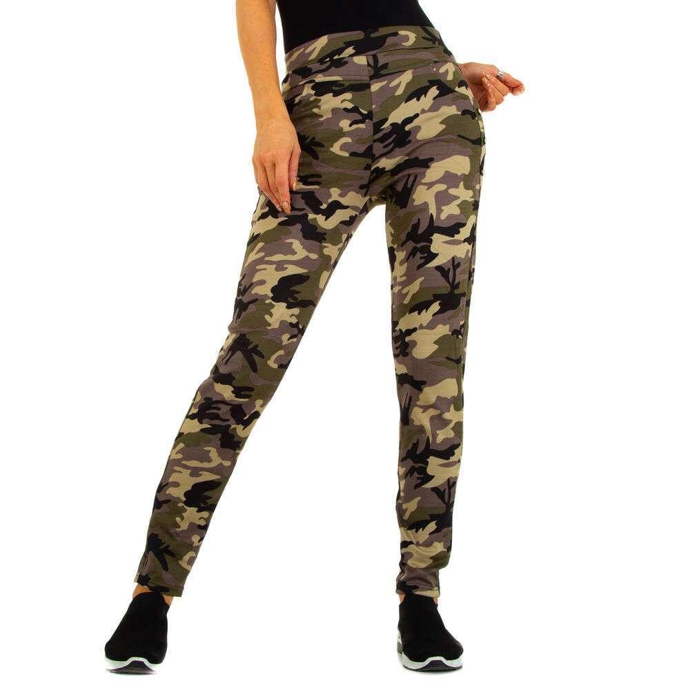 Pantaloni skinny pentru femei marca Holala - camouflage