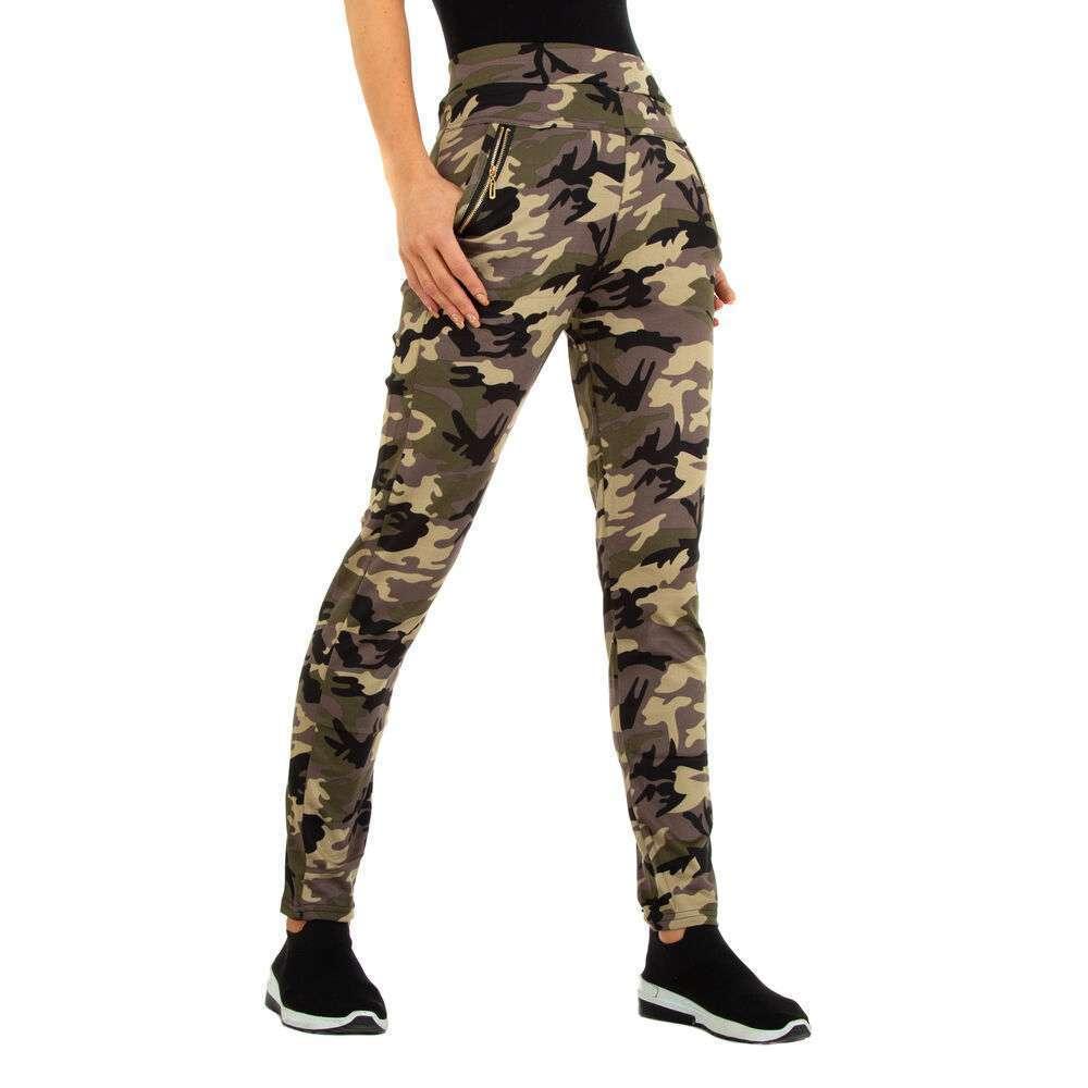 Pantaloni boyfriend pentru femei marca Holala - camouflage
