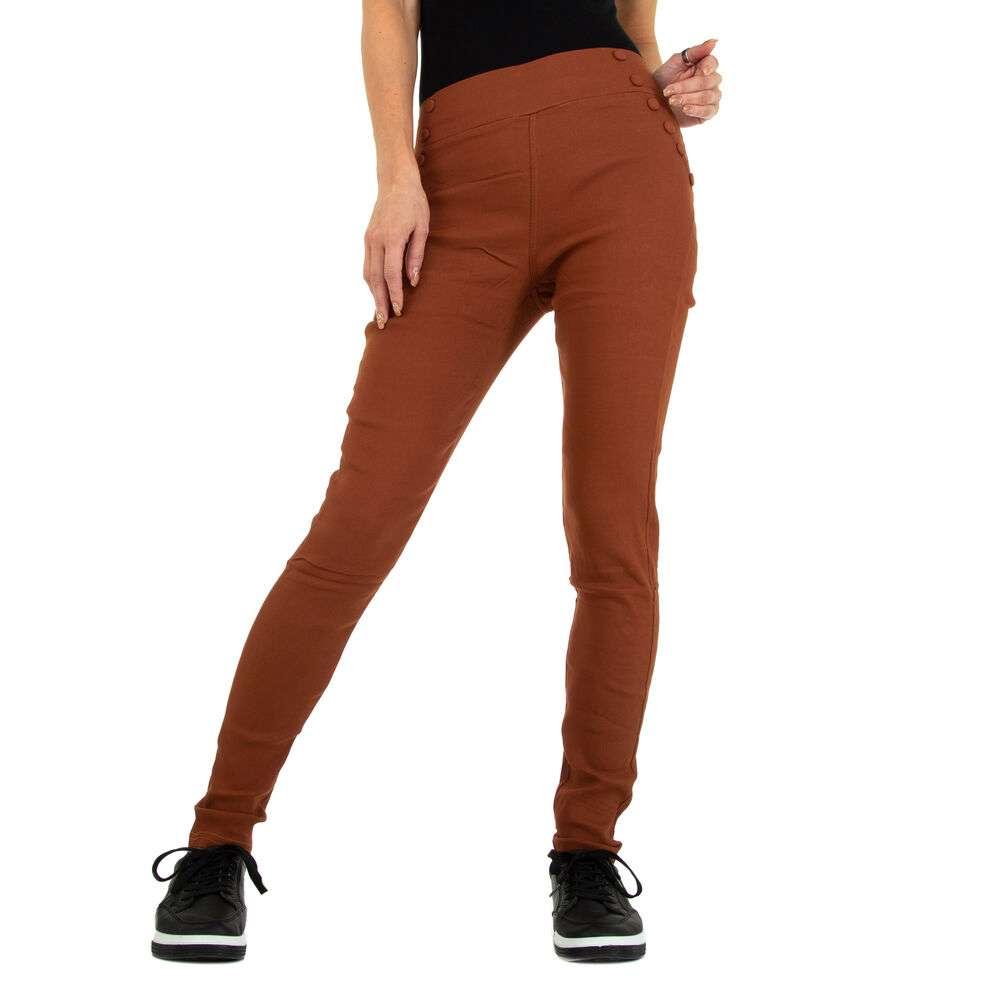 Pantaloni skinny pentru femei marca Holala - cafeniu