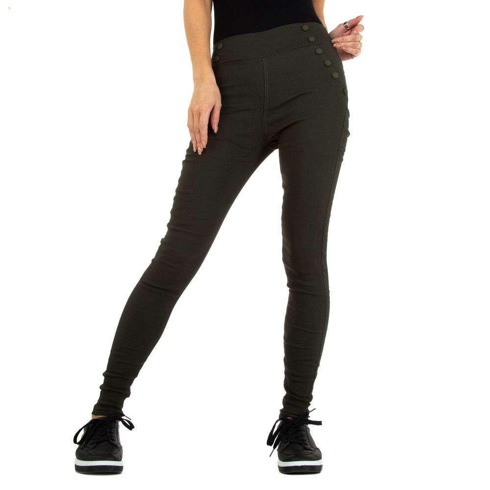 Pantaloni skinny pentru femei marca Holala - verde