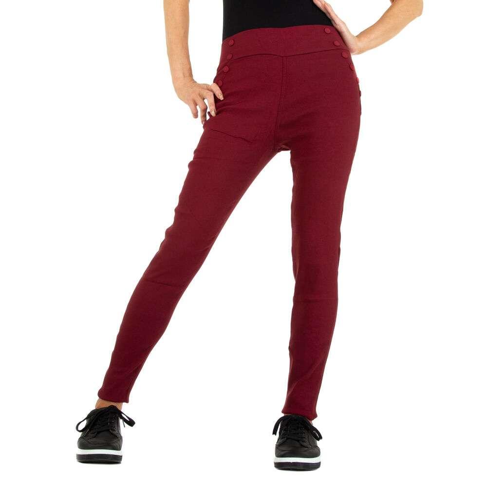 Pantaloni skinny pentru femei marca Holala - visiniu