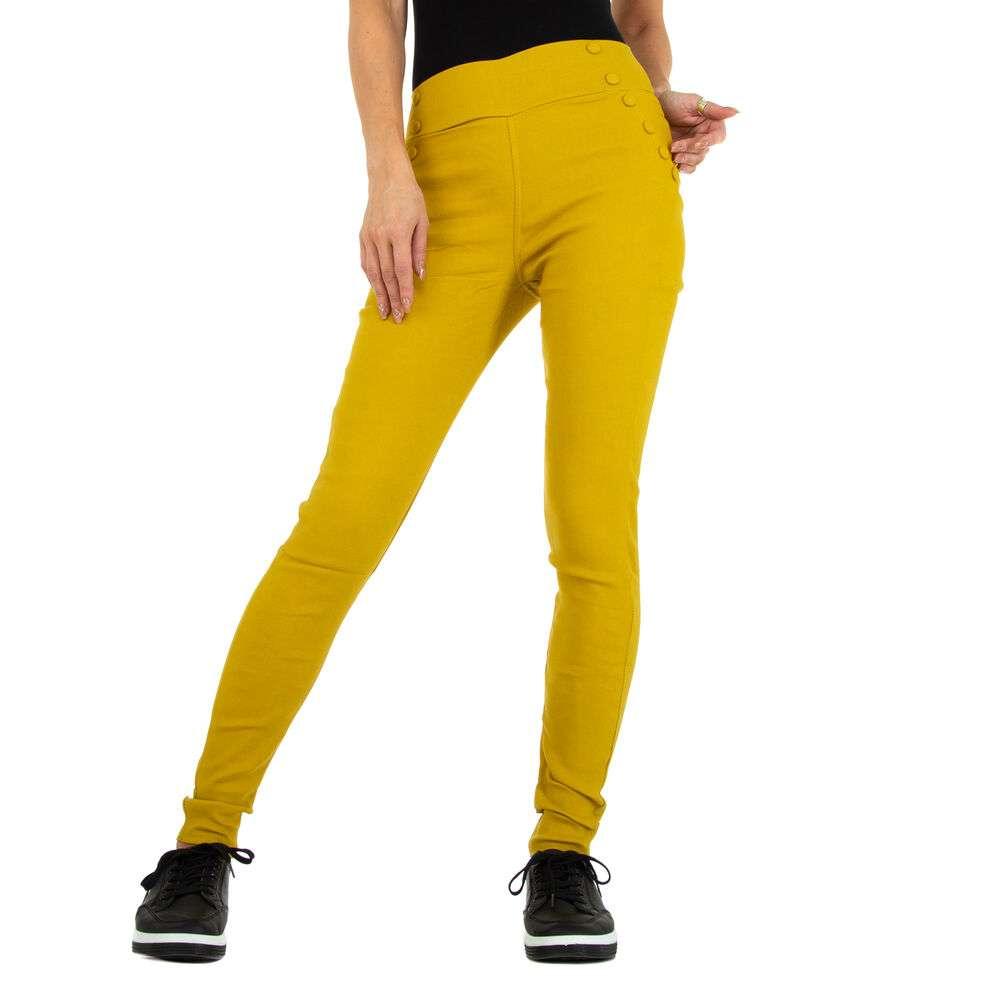 Pantaloni skinny pentru femei marca Holala - galben
