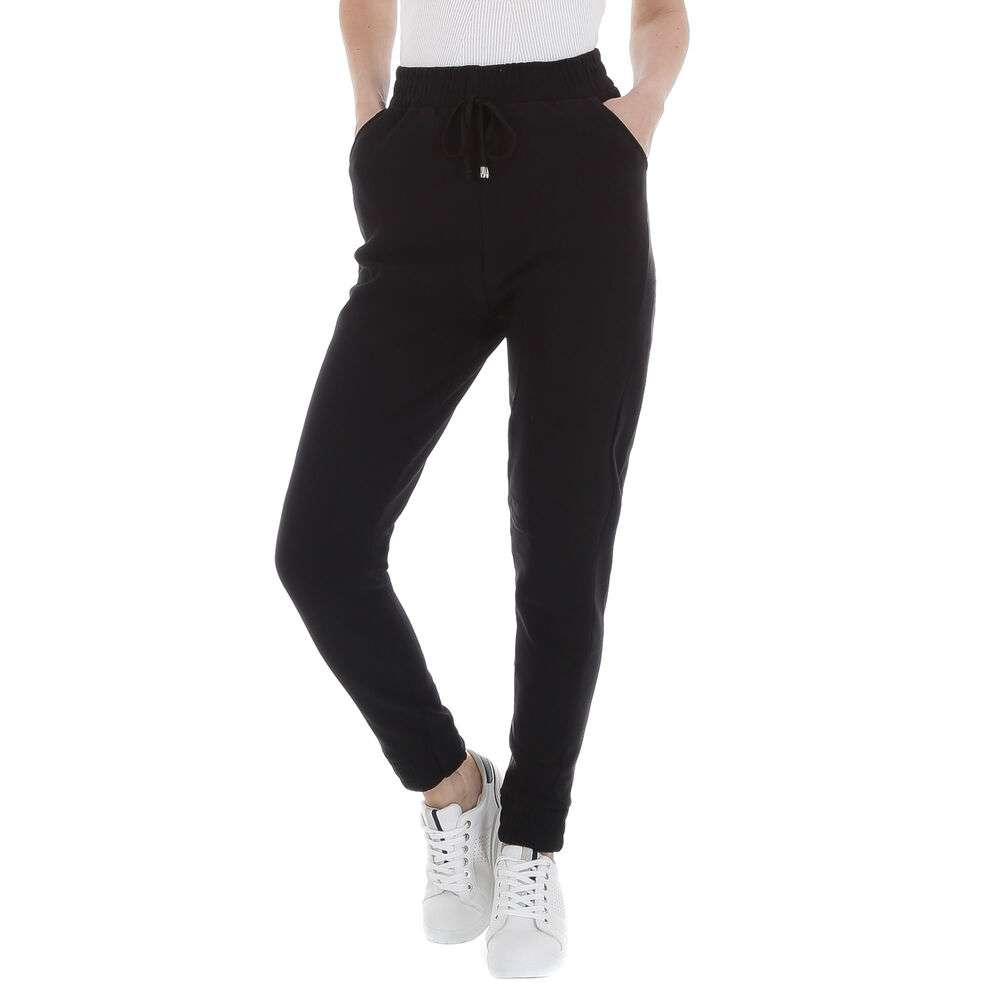 Pantaloni din stofă pentru femei marca Chic Mode - negru