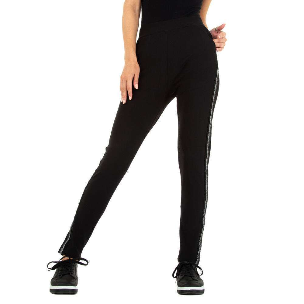 Pantaloni din stofă pentru femei marca Mode - negru