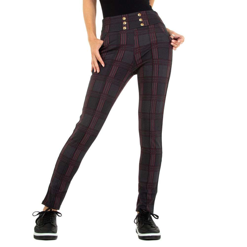 Pantaloni din stofă pentru femei marca Top Look - visiniu