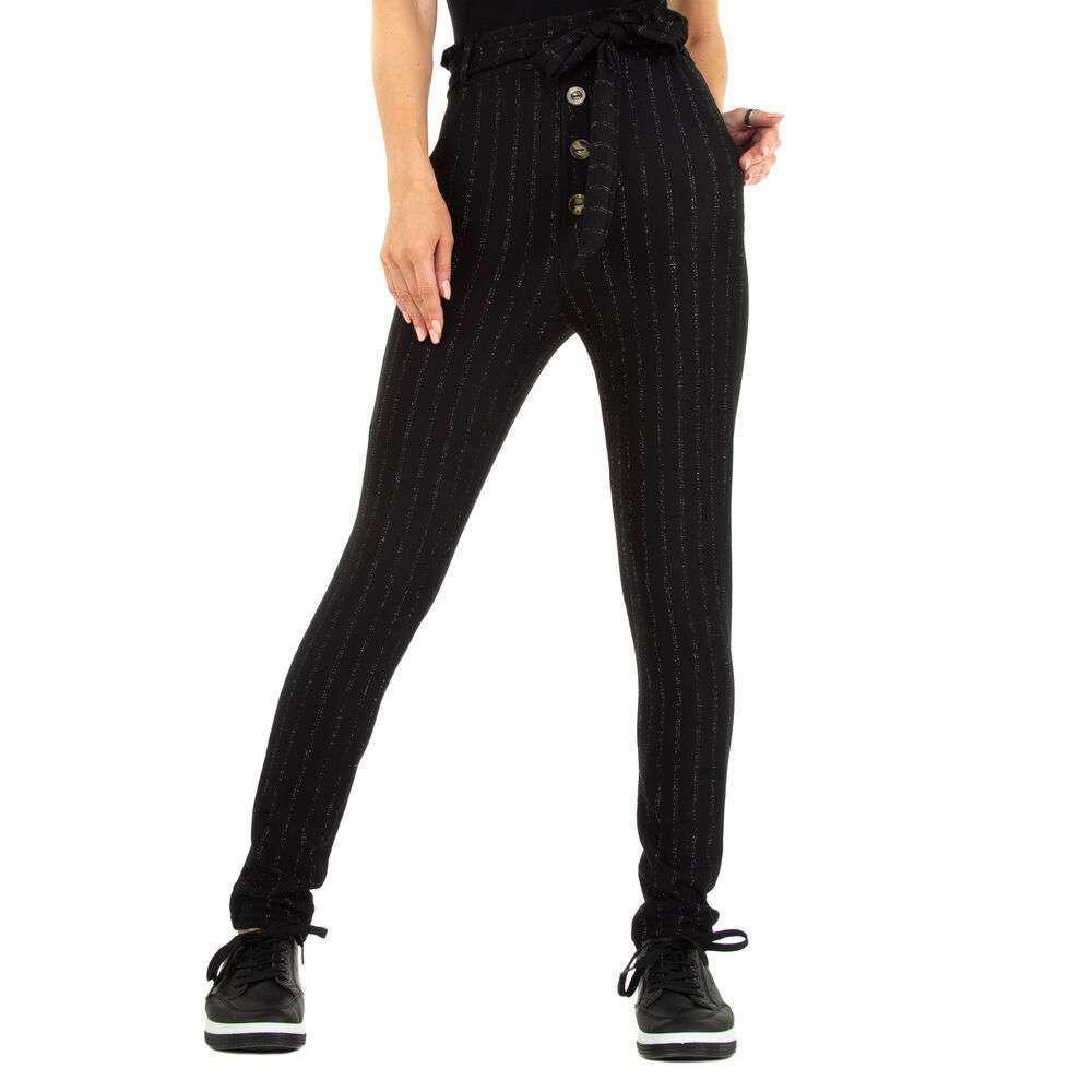 Pantaloni din stofă pentru femei marca Fashion - negru