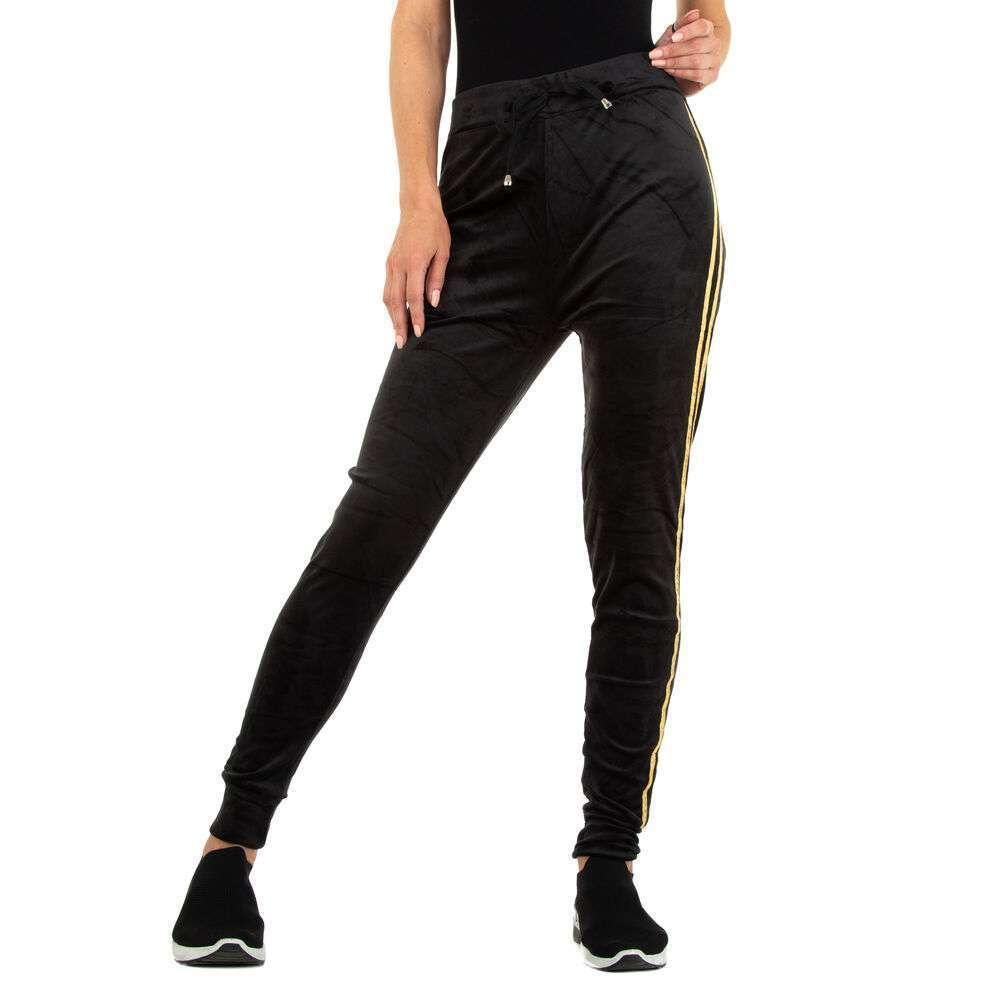 Pantaloni de trening pentru femei marca Holala - negru-auriu