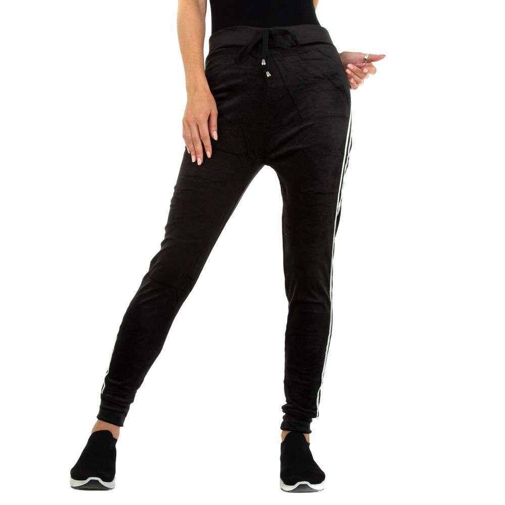 Pantaloni de trening pentru femei marca Holala - negru-argintiu