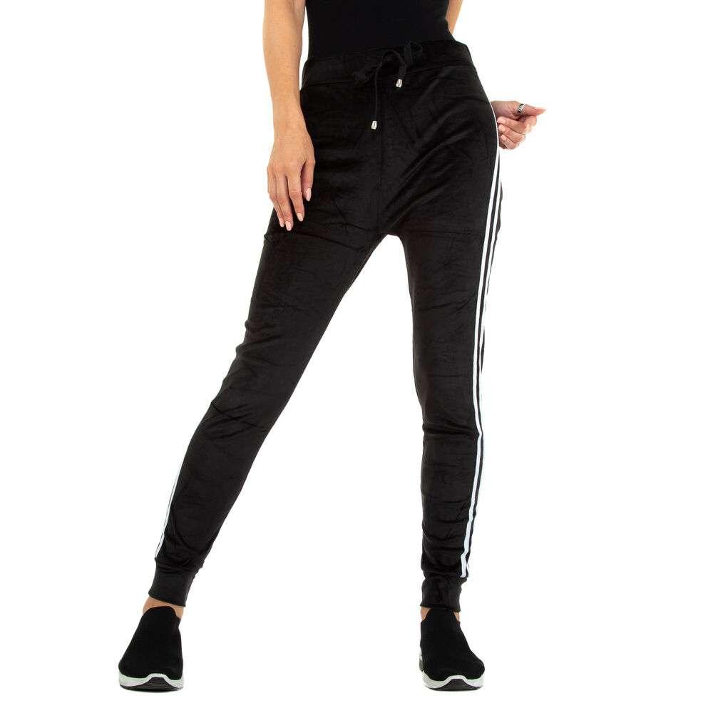 Pantaloni de trening pentru femei marca Holala - alb-negru
