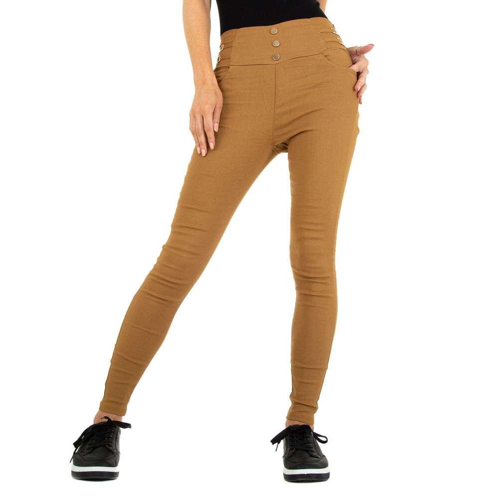 Pantaloni skinny pentru femei marca Holala - caramel
