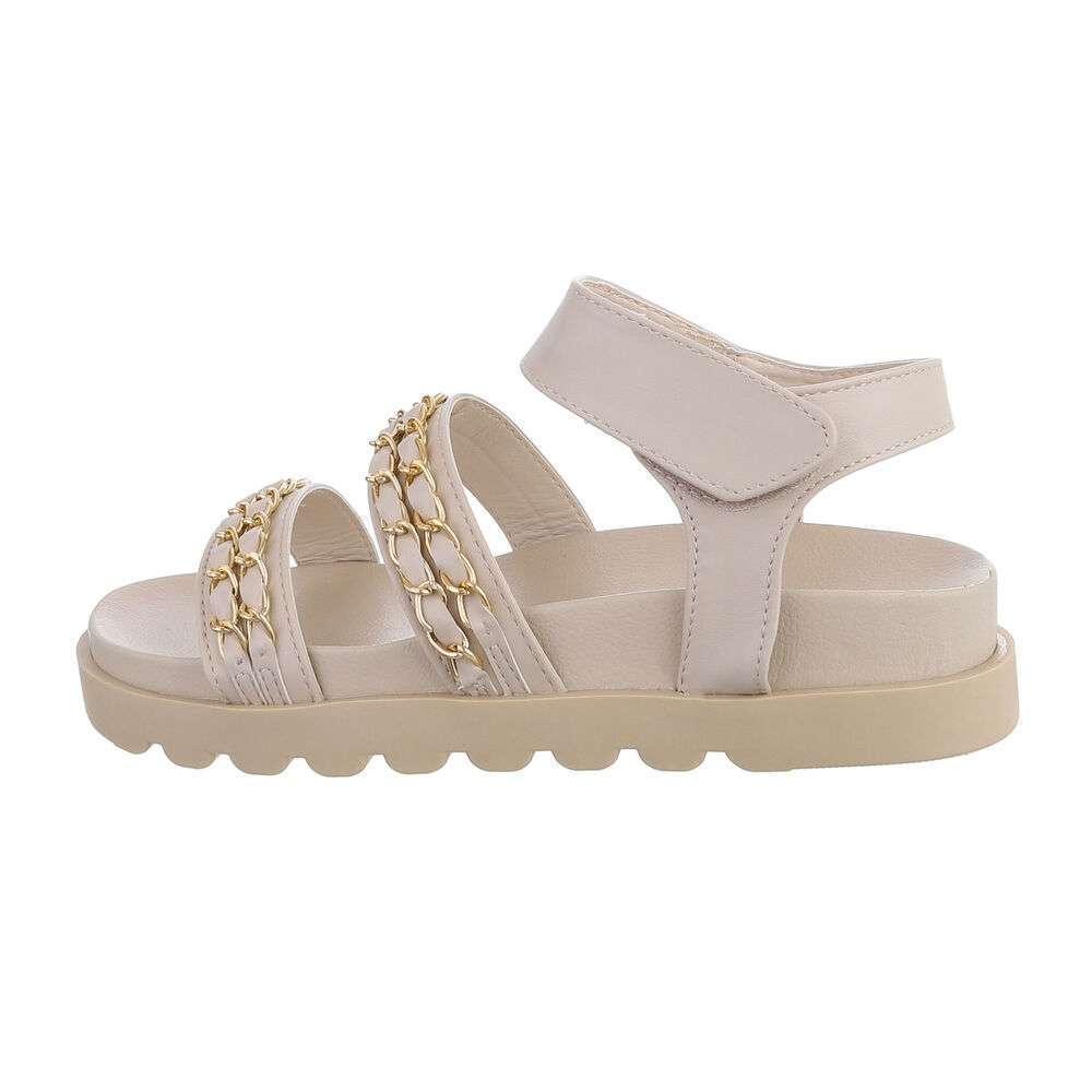 Sandale plate pentru dame - apricot