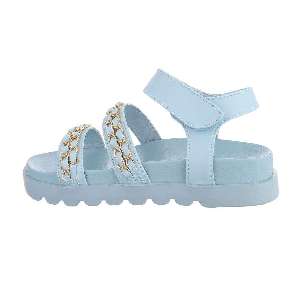 Sandale plate pentru dame - albastru