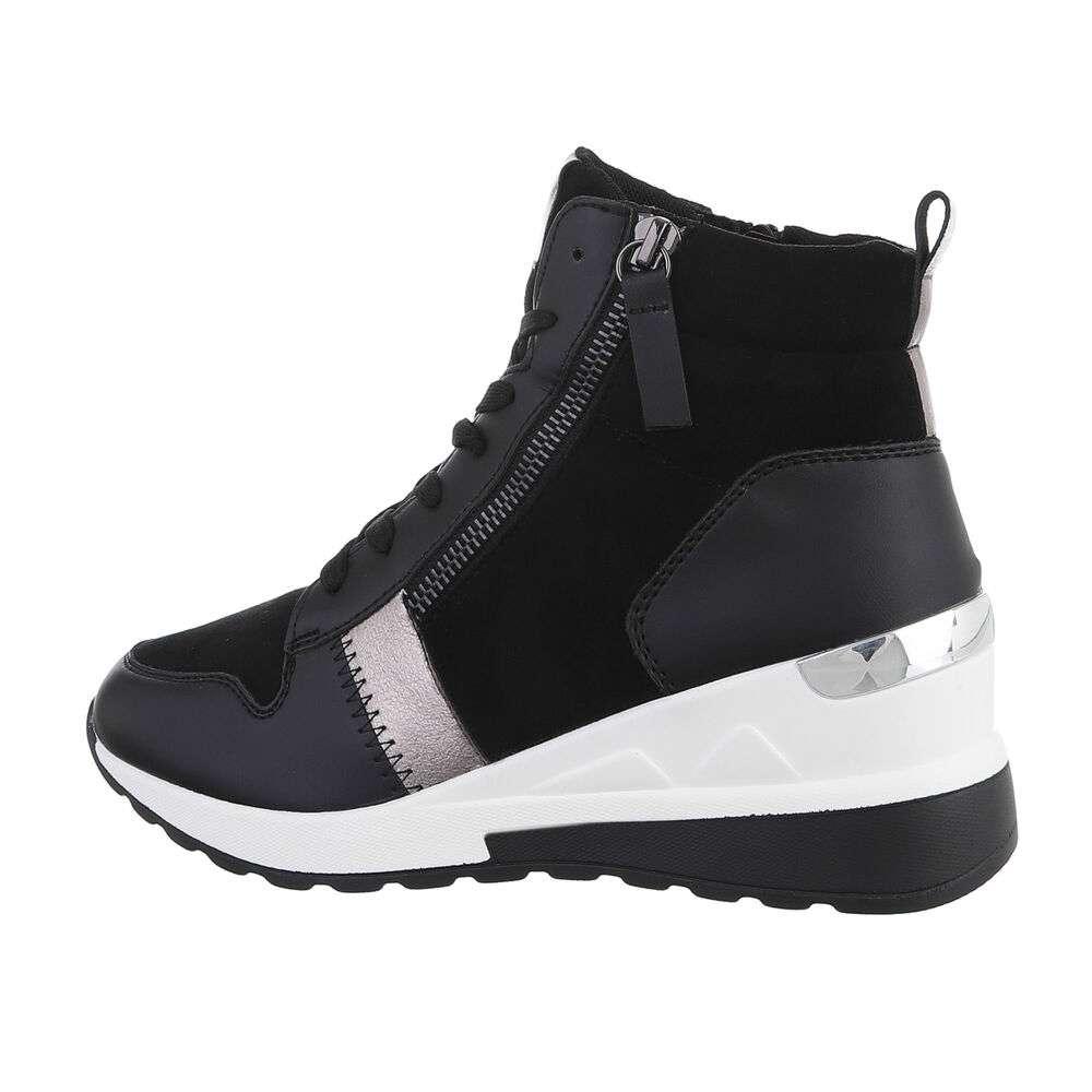 Pantofi sport înalți - negru