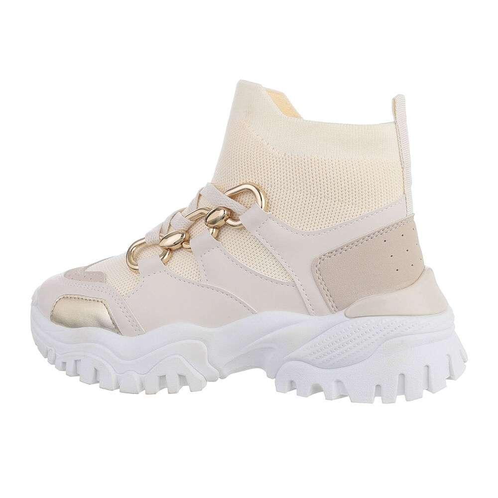 Pantofi sport înalți - bej