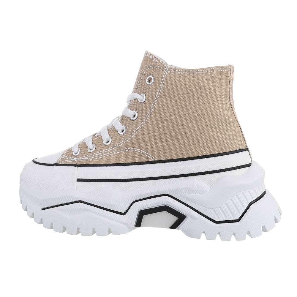 Pantofi sport înalți - khaki