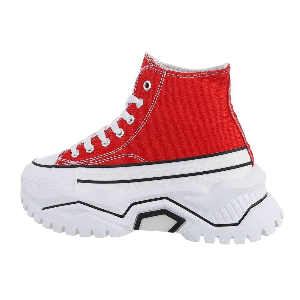Pantofi sport înalți - rosu