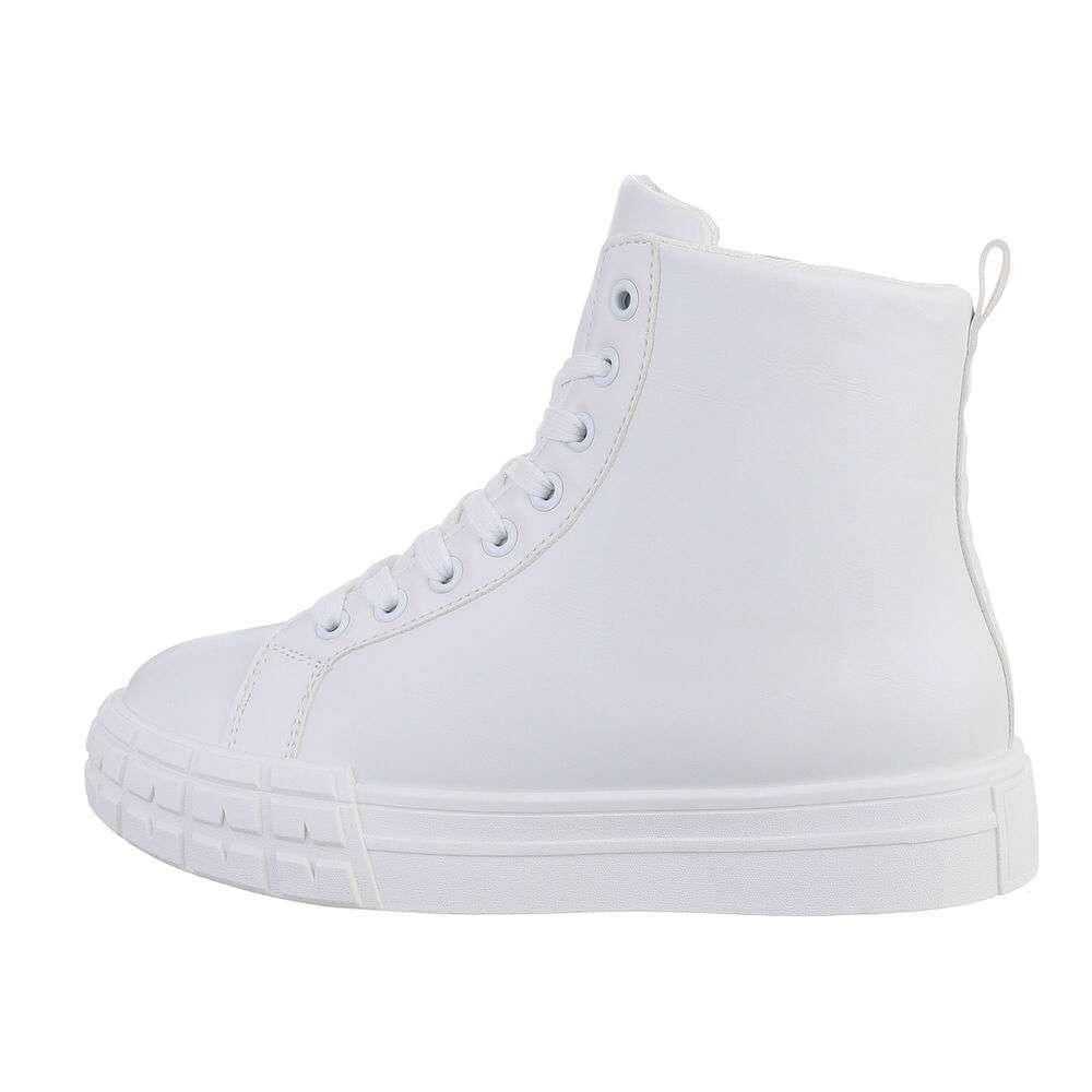 Pantofi sport înalți - alb