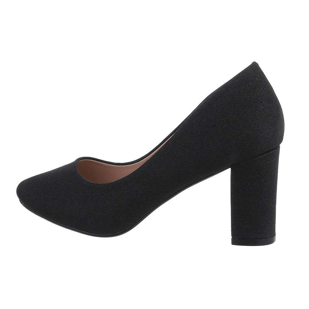 Pantofi cu toc înalt pentru dame - negru