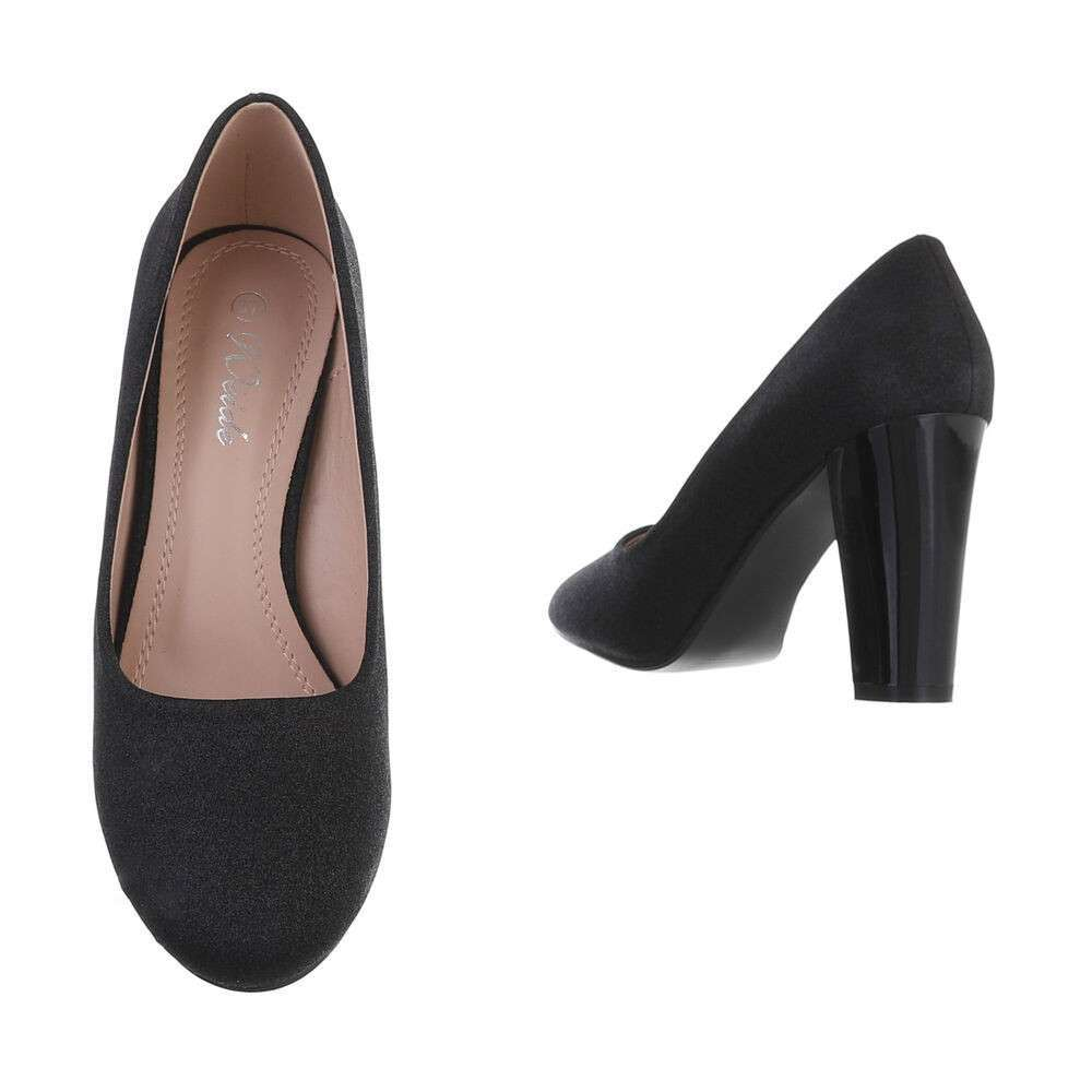 Pantofi cu toc înalt pentru dame - negru - image 3