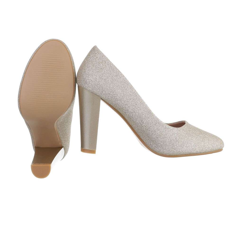 Pantofi cu toc înalt pentru dame - auriu - image 2