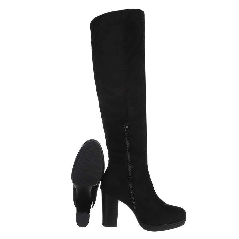 Cizme peste genunchi pentru dame - negru - image 2
