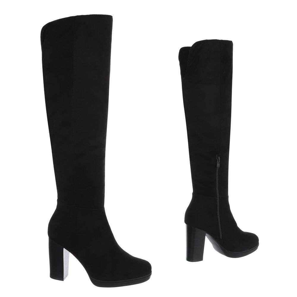 Cizme peste genunchi pentru dame - negru - image 3