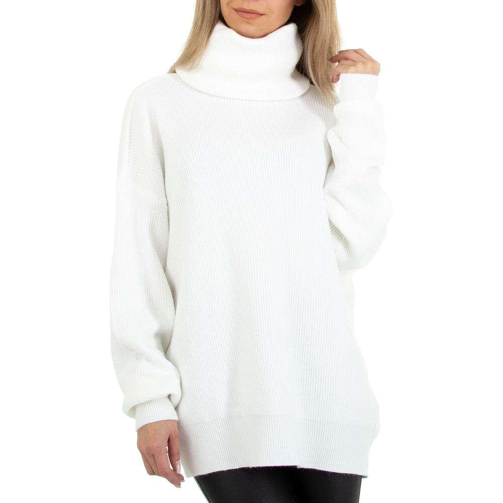 Pulover tricotat pentru femei marca Glo Story Gr. O mărime - alb