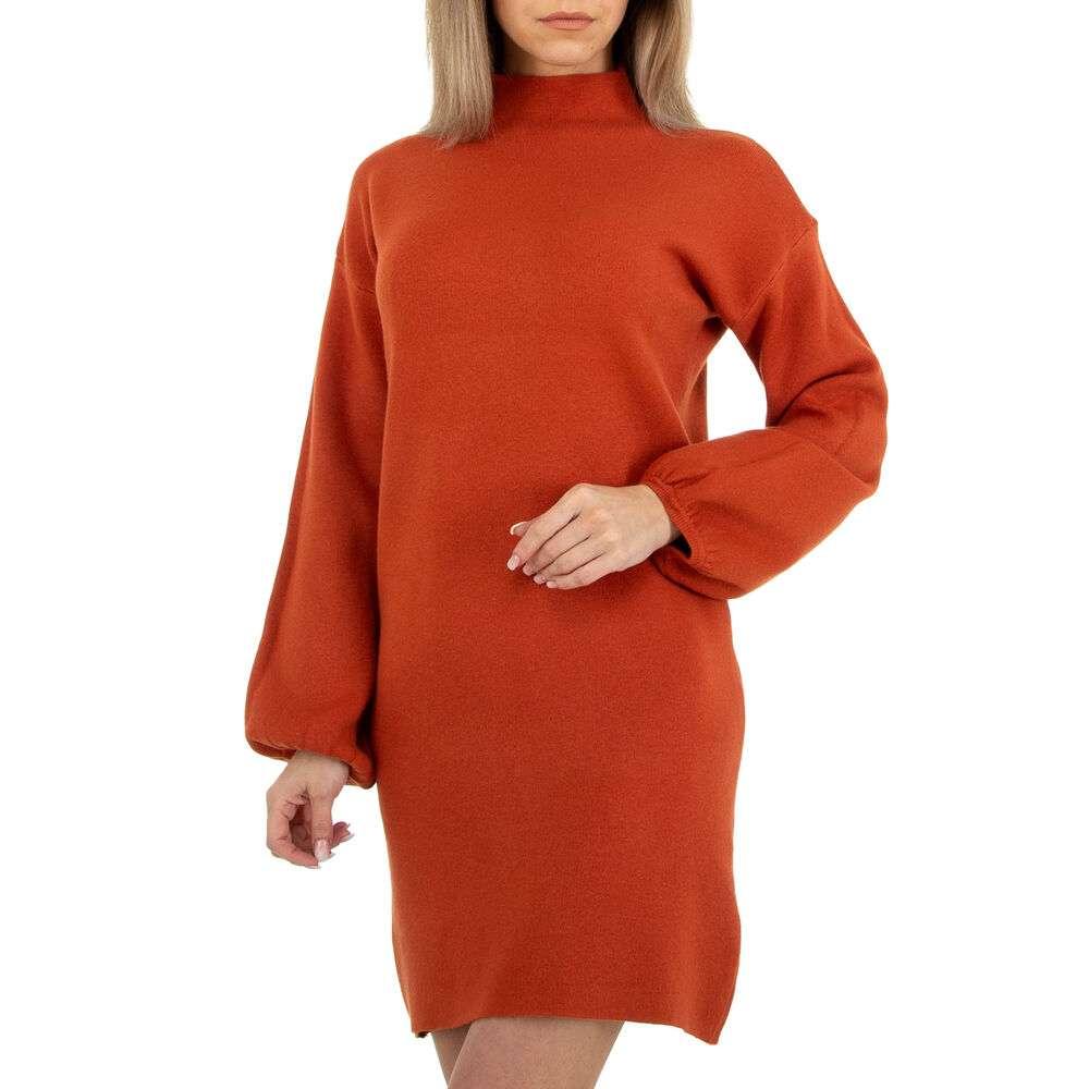 Rochie tricotată pentru femei marca Glo Story - închis orange