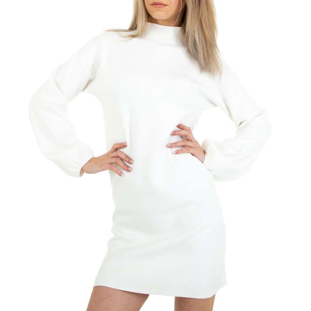 Rochie tricotată pentru femei marca Glo Story - alb