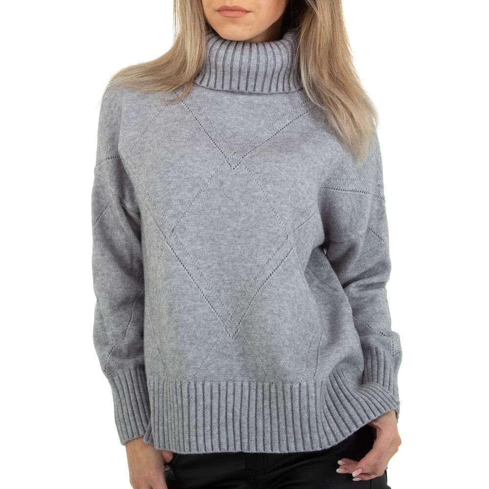 Pulover tricotat pentru femei marca Glo Story - gri