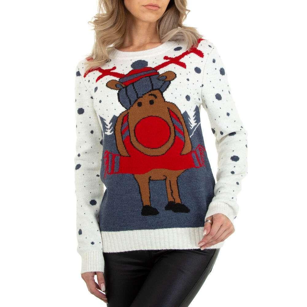 Pulover tricotat pentru damă marca Metrofive - alb