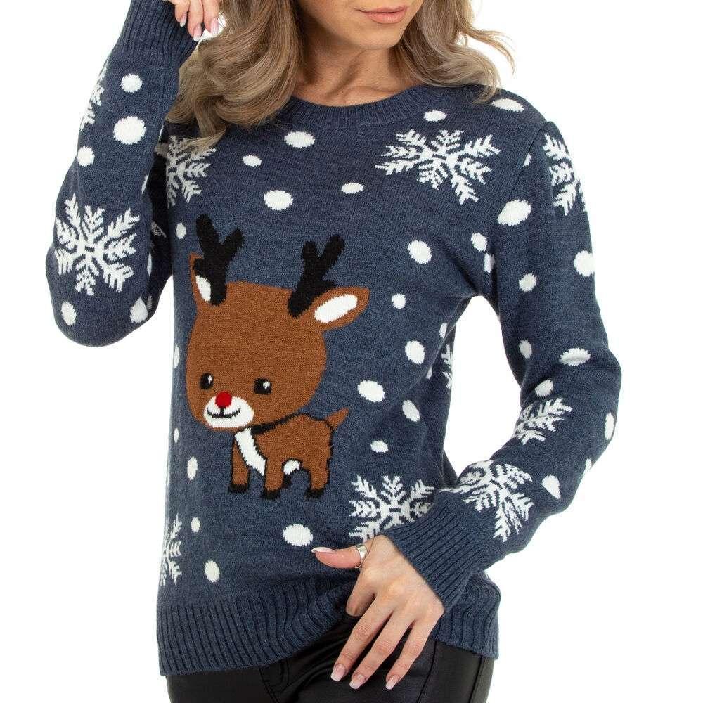 Pulover tricotat pentru damă marca Metrofive - albastru