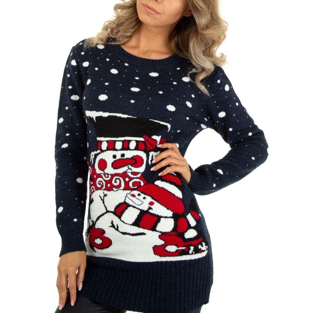 Pulover tricotat pentru damă marca METROFIVE - albastru închis