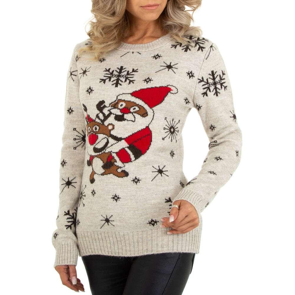 Pulover tricotat pentru damă marca METROFIVE - bej